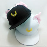 2016 Brand Hip Hop Women Snapback Cap With Ears Cute Baseball Cap For Women Black Butterfly - Shopy Max