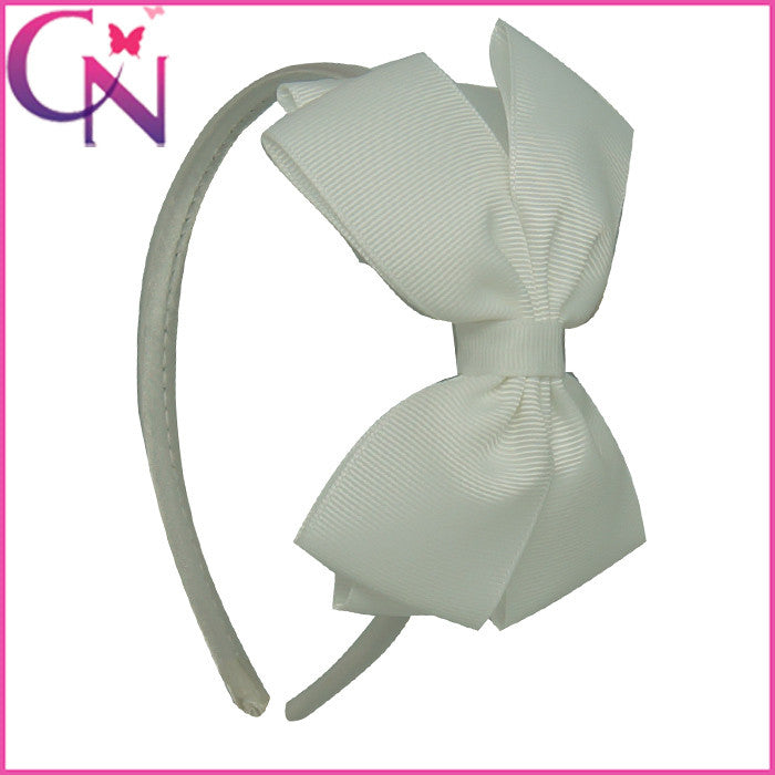 11COLORS Lovely Girls Hairband Solid Ribbon Hairbow Hair Bands - Shopy Max