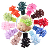 12 Color For 6 Months To 3 Years Childern / Baby Girls Lace Headband Chiffon Flower - Shopy Max