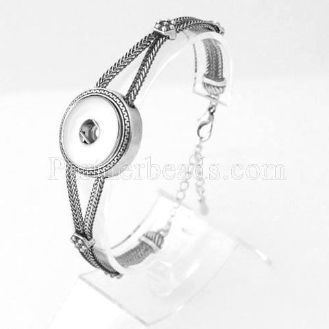 DIY Bangles 18mm Ginger Snap Bracelet Metal Snap Button Charms Jewelry Bracelet For Women Free Shipping KB0278