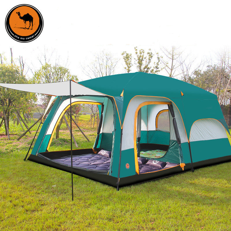hot sale online 57dc9 0f3e0 430*305*200cm 10-12 Person Large Camping Tents Waterproof Beach Tent Pop Up  Hiking Fishing Outdoor Tents Shop Online Stores