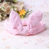 1PC Children Hair Accessories Lovely Bunny Ear Baby Headbands Elastic Fashion Soft Toddler scrunchy Bow Knot Girls Headband - Shopy Max