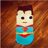 Superman Batman Captain USA classical cartoon summer style happy socks character - Shopy Max