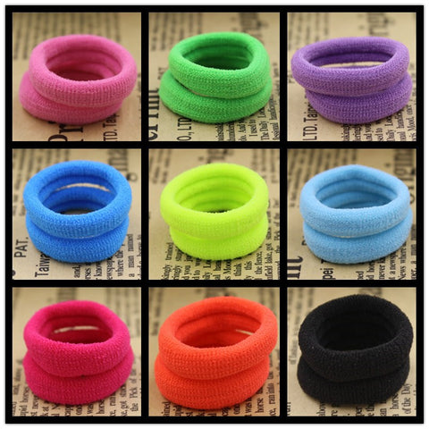 (KAKU0050) 2015 New 100pcs/bag Rubberbands 15 Colours 2.5CM Child Kids Girls Hair Holders