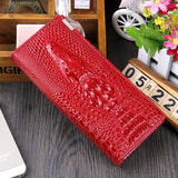 Women Wallet Female 2016 Coin Purses Holders Brand Genuine Leather 3D Embossing Alligator