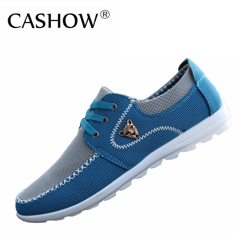 Shoes Mens Casual Shoes Lace-up Sneakers Outdoor Running Comfort Driving Shoes (Color : Blue Size : 41)