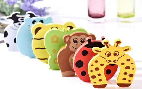 5pcs Kids Baby Cartoon Animal Jammers Stop Edge & Corner Guards Door Stopper