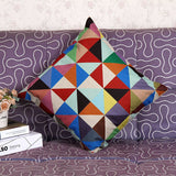 Geometry Colorful Home Throw Pillow Cases Waist Pillowcases Pillowcase H3193 - Shopy Max