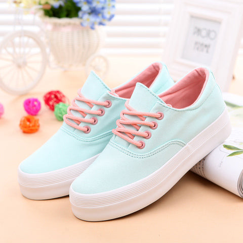 Canvas shoes woman shoes 2015 zapatos mujer sneakers sport shoes for women huarache white sneakers women shoes solid sneakers