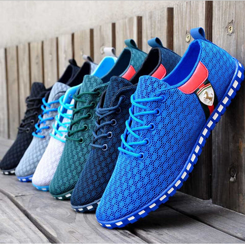 2015 New Men's Sneakers Summer Zapato Casual breathable mesh Sneakers Running Sports shoes for men Plus Size 39-46