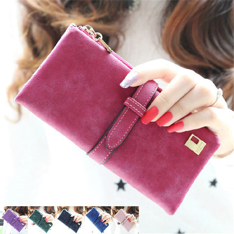 2015 Brand New 6Colors Fashion Lady Bags Women Wallets PU Handbags Leather Purse Long Popular Card Holder Brand New J417