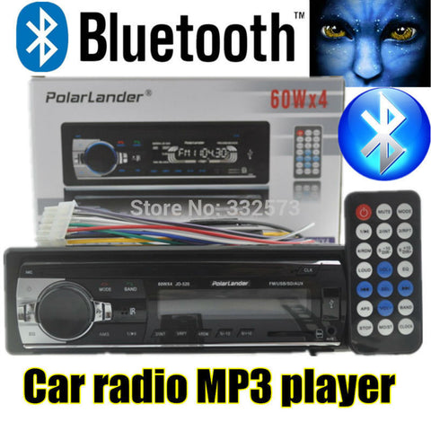 2015 new Car Radio bluetooth MP3 FM/USB one din in dash USB port 12V Car Audio bluetooth handfree car radios blueooth aux in