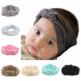 2015  Baby Top Knot lace Headbands Baby Headwrap Polka Braided Plum