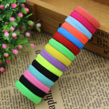 2015 New 50 pcs/lot Rubberbands Hot Candy Cute 15 Colours 2.5CM Child Kids Girls Hair Holders Elastics Tie Gum Hair Accessories
