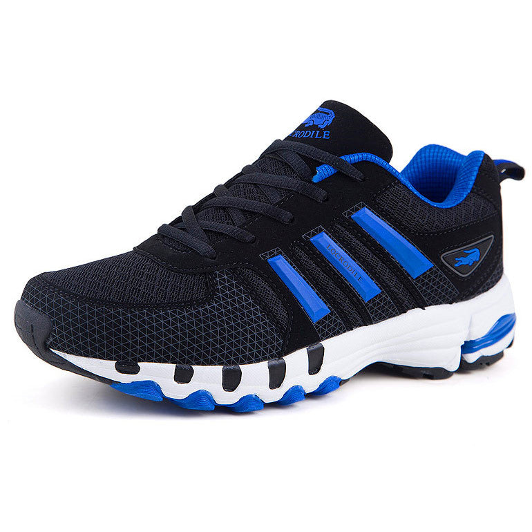 2015 New Brand LUQICRODILE Man Flats Breathable Air Mesh Men's Casual Shoes Lace-Up Sport Trainers Rubber Bottom Big Size 39-47
