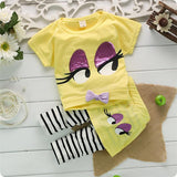 New Arrival Summer Children girls Sets Novelty Kids clothing,Two color yellow/blue