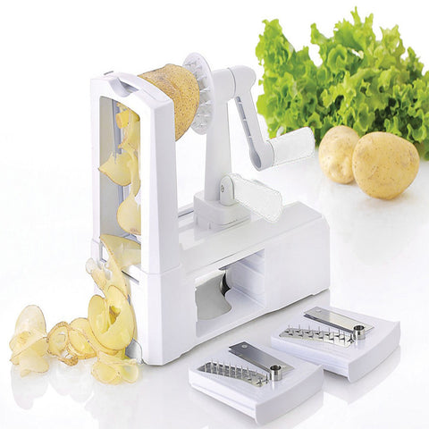 3 In 1 Julienne Spiral Vegetable Choppers Slicer Spiralizer Fruit Veggie
