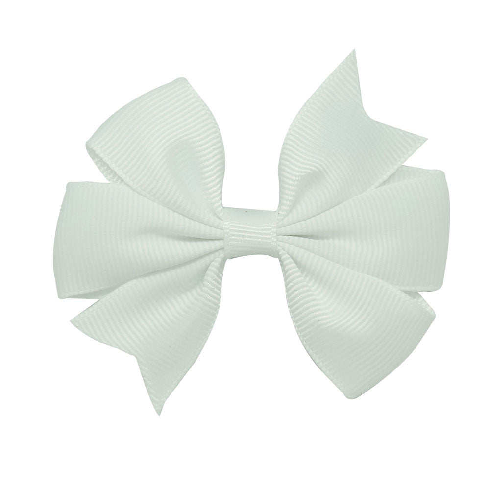 "3"" New Fashion High Quality Pinwheel Solid Hair Bow For Baby Girls Sweet Lovely Hairgrips - Shopy Max"