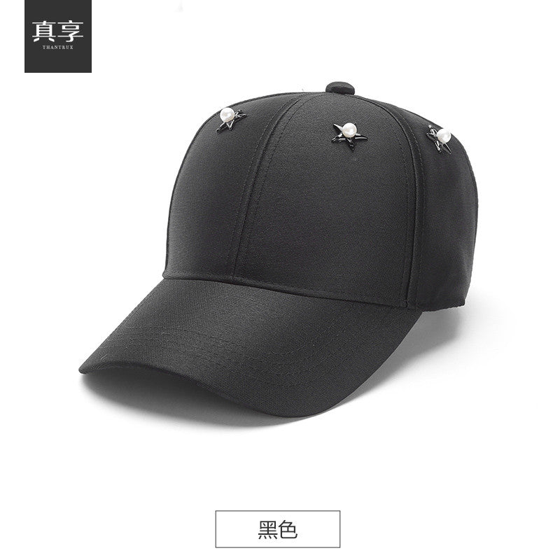 Lady spring and summer  Korean baseball hat  fashion female a wide brimmed hat peaked cap outdoor sun hat travel B-1534