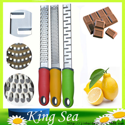 3pcs Three different  Blades Stainless Microplane  Cheese/Lemon/ Chocolate Grater