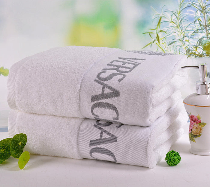 Luxury 100% Soft Cotton 2 pcs/lot White Face towel 75*35cm - Shopy Max