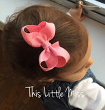 12 Colors Cute Baby Bow Hair Clip Lovely Kids Bowknot Hair Accessories Retail - Shopy Max