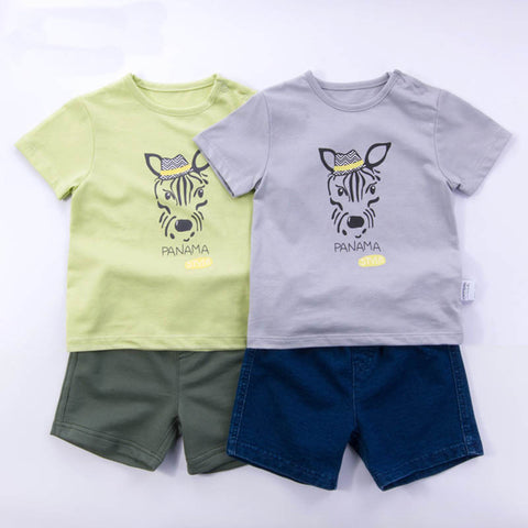 2016 summer new children's clothing suit 0-4 years old infants and young children cotton
