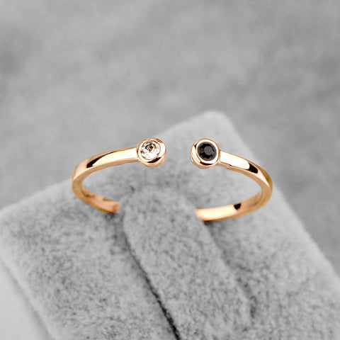 2014 New Sale Real Italina Rigant  Austria Crystal Ring 18K gold Plated Rings for Women Enviromental Openings  ring #RA11542Rose