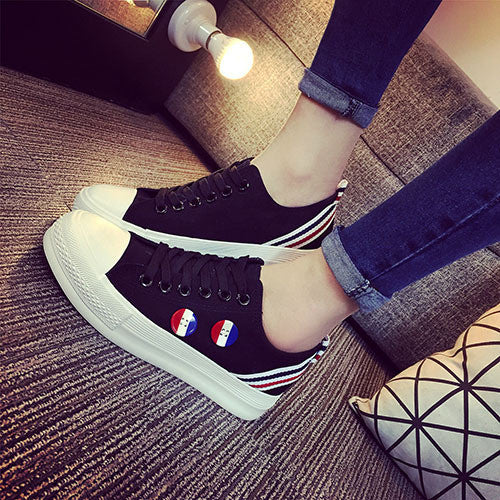 New Style Women Canvas Shoes Flag