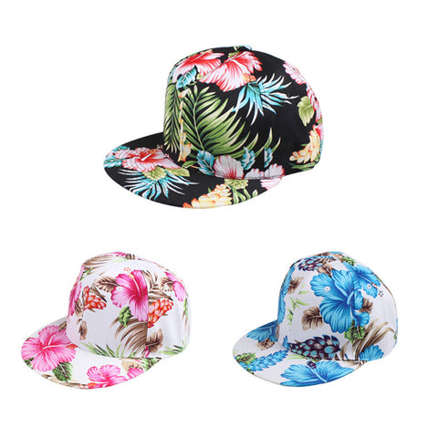 2015 Top Design Adjustable Baseball Cap Fashion Leisure Flower Cotton Snapback Baseball Hat Travel Caps For Women