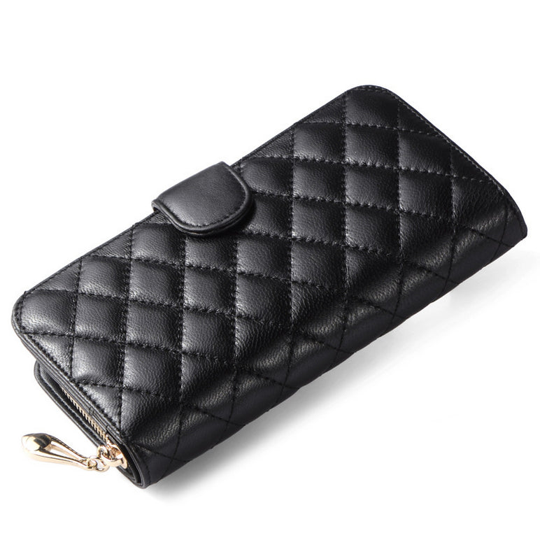 Womens wallets and purses long zipper card holder genuine leather wallet