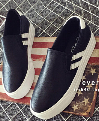 Flats casual shoes women Autumn platform shoes women's shoes pedal lazy canvas shoes female skateboarding shoes flat with light - Shopy Max