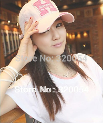 1pcs,Fashion new H letters baseball caps,Women's hole peaked hat,Multicolor wholesale.