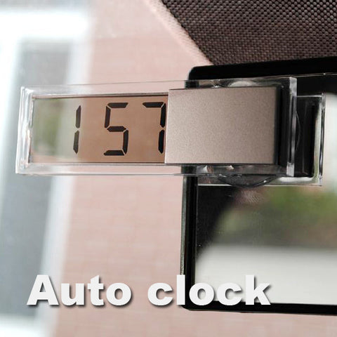 Durable Digital LCD Display Car Electronic Clock With Sucker Cool E#A3