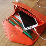Women Wallets Fashion Style Long Clutch Solid Color Hasp Leather Wallet Ladies