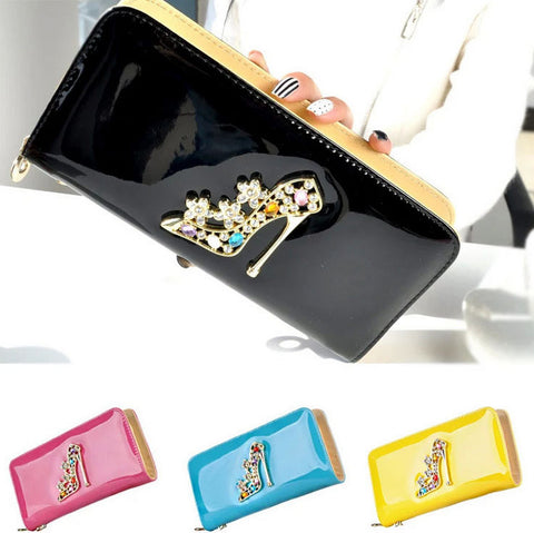2015 fashion brand women lady wallet luxury top quality black red long hand wallets