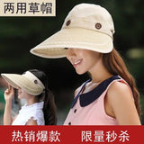 Summer lady Korean ultraviolet sunshade cap disassembling dual-purpose empty