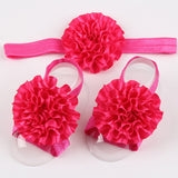 10Clrs Fashion Hot children Infant Baby Toddler girls flower Headband footband 3pcs - Shopy Max