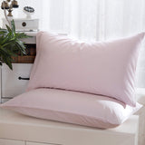 2 pcs/lot 100% Sateen Cotton Solid Bed Pillowcase Brief Comfortable