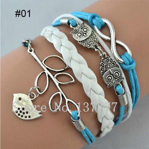 Hot Jewelry Vintage Braided Anchors Rudder Metal Leather Bracelet Multilayer Rope Bracelets Wrap Bracelets Wholesale Bangle - Shopy Max
