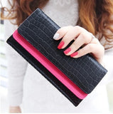 2015 new arrival women wallets retro embossing of leather double-deck  multifunction