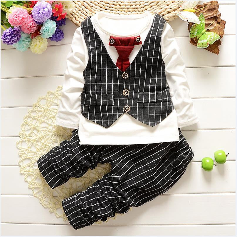 be9edae4403b 1-3yrs Baby Boys clothes fashion toddler girls set formal suits ...