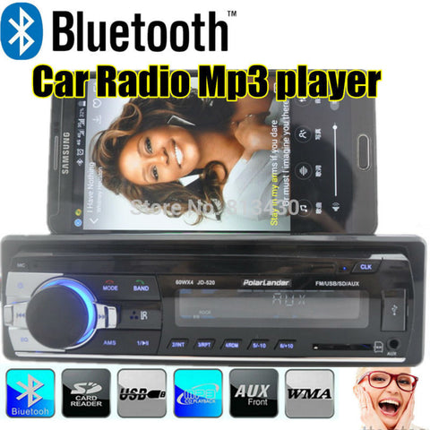 New 12V Bluetooth Car Radio MP3 Audio Player 5V Charger/MP3/FM /USB/SD/AUX-IN/Car Electronics car audio bluetooth In-Dash 1 DIN