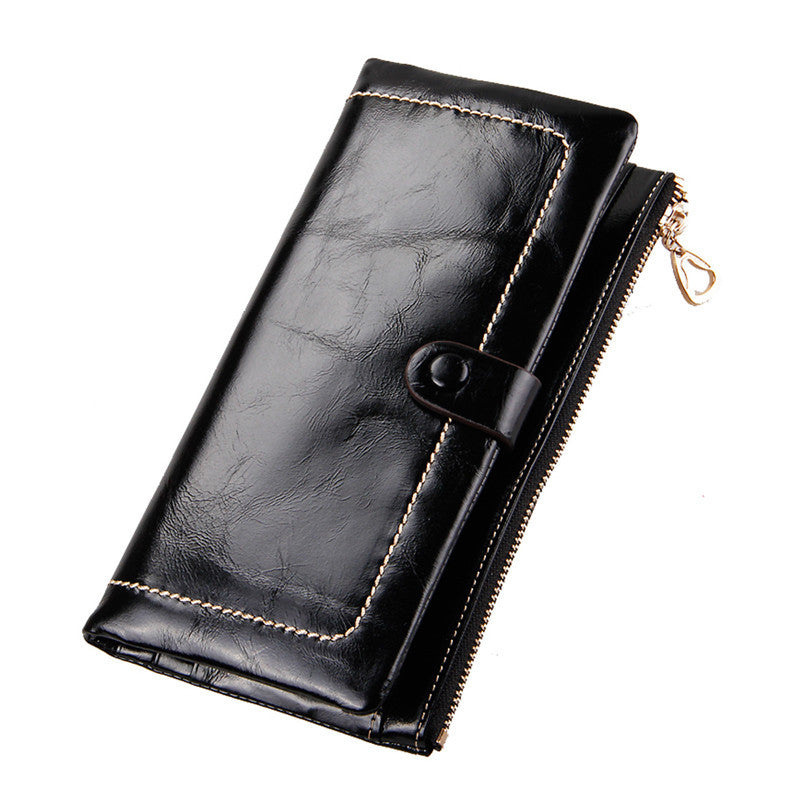 Classical Retro luxury Genuine Leather Women's Wallets High Quality Brand Design