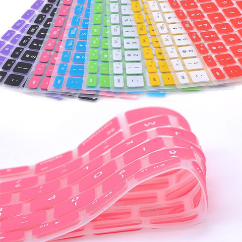 9 Candy Colors Silicone Keyboard Skin Cover For Apple Macbook Pro MAC 13 15 17 Air 13