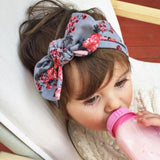1 pieces 2015 Cute Newborn Baby Cool Girls Printing Knot Elasticity Headband Cotton Children Girls Baby - Shopy Max