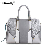 UU Family UU101 2016 Casual Ladies Handbags Women Python Tote Bag Patchwork - Shopy Max