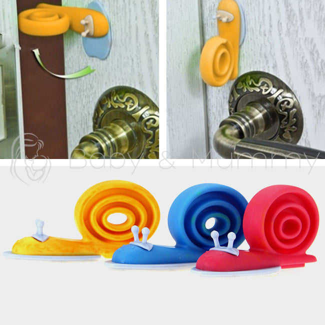 3 Pcs Soft Plastic Baby Kids Safety Stop Lock Door Stopper Snail Cartoon Animal - Shopy Max