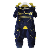 2015 new autumn fashion baby cartoon clothing sets hooded jacket