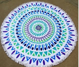 2016 New Summer Large  100% Cotton Printed Round Beach Towels